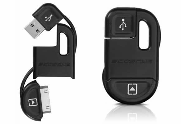 FlipSYNC II – Chaveiro e cabo USB para iPhone.