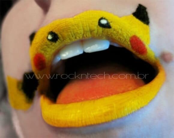 FOTOFUN - Lábios Pikachu.