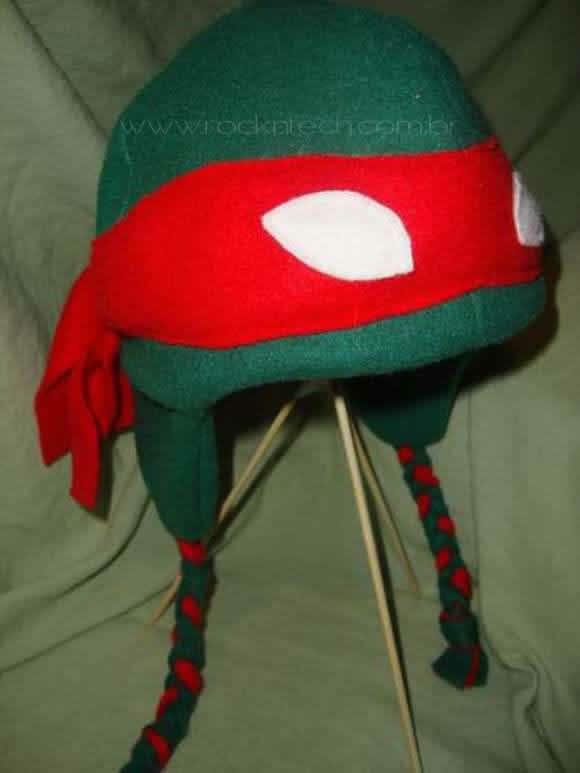 Gorro das Tartarugas Ninjas.