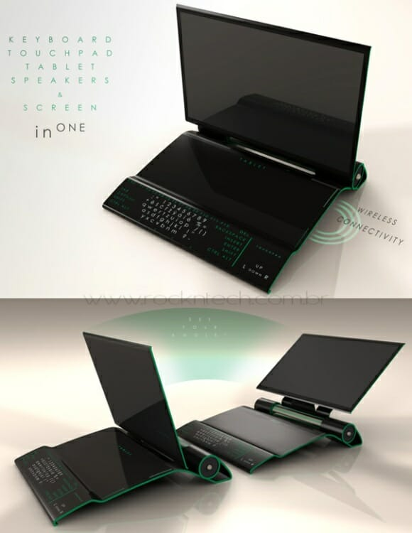 InOne - Um super computador com design estilo TRON.