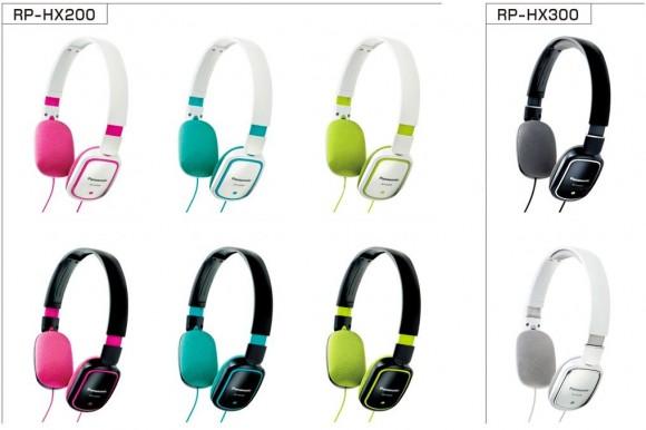 Novos Headphones multicoloridos da Panasonic.