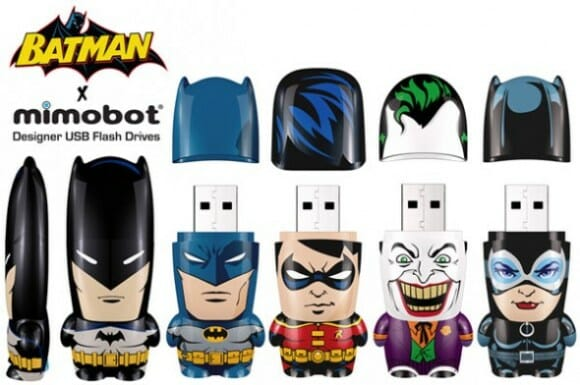 Pen drives Mimobot do Batman & Cia.