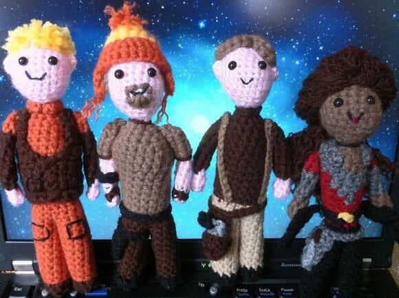 Personagens de Star Trek e LOST feitos de crochê.