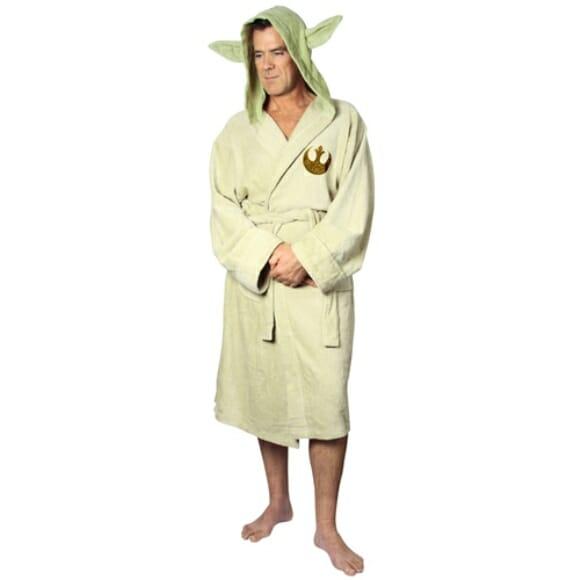 Roupão do Mestre Yoda para fãs de Star Wars.