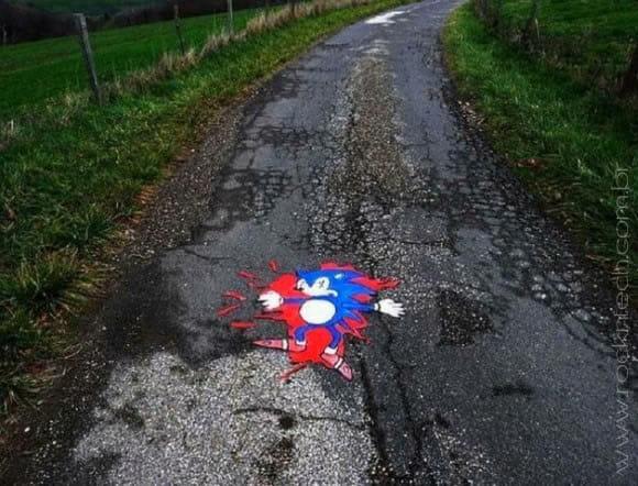 FOTOFUN - O Sonic não é tão rápido assim...