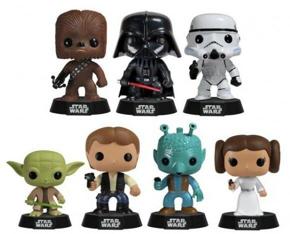 Nova coleção de bonecos Star Wars em estilo Bobble Heads da Funko.