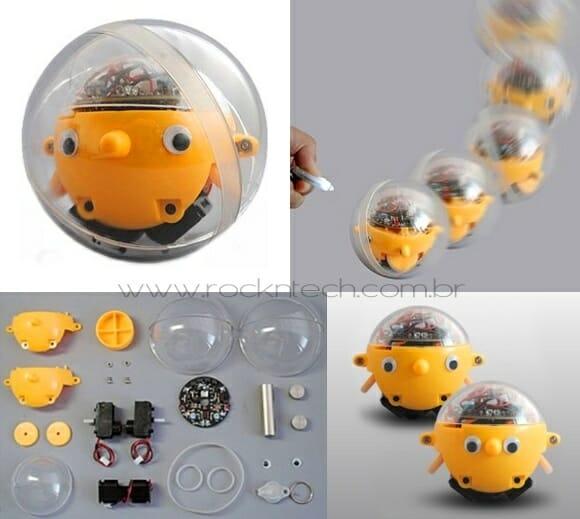 Tama-Robo – Um robozinho esférico vidrado por luz! (com vídeo)