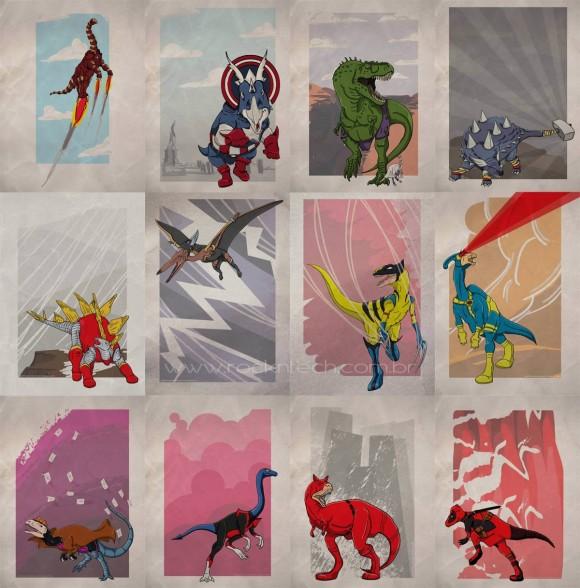 FOTOFUN - X-Sauros, os super-heróis jurássicos da Marvel!