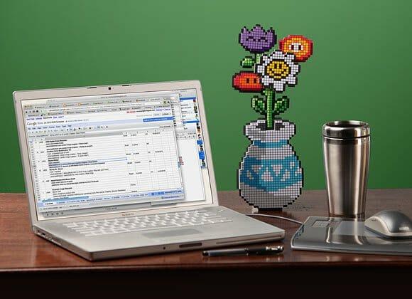 Um vaso de flores 8-bits para presentear sua namorada ou esposa!