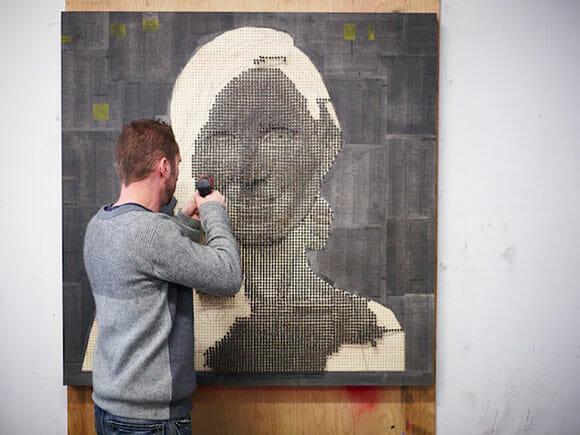 Os incríveis quadros 3D feitos com parafusos.