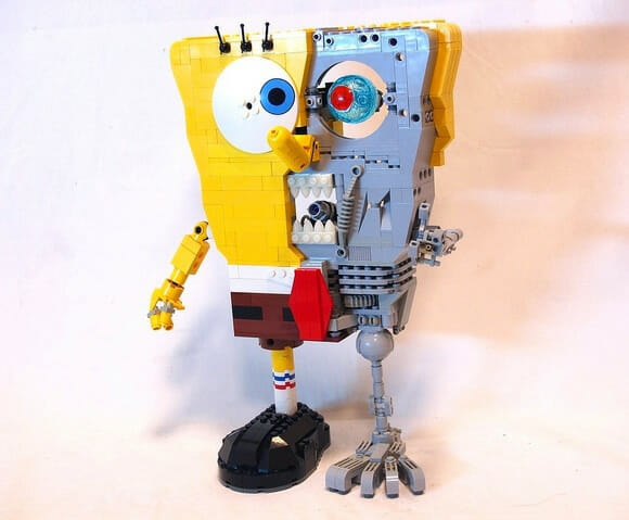 Bob Esponja + Exterminador do Futuro + LEGO = SpongeBob Terminator!