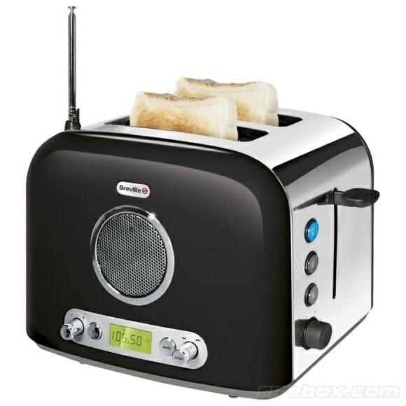 Torradeira + Rádio em um só aparelho para animar o seu café da manhã!