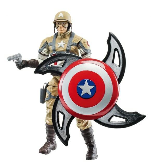 Nova linha de brinquedos Hasbro com o tema Capitão América.