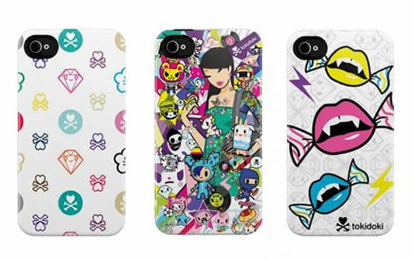 Cases tokidoki para iPhone 4 com estampas super coloridas.