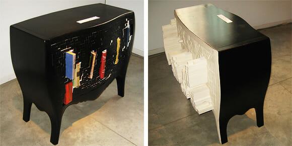 Push And Store - Uma cômoda que se adapta aos objetos colocados nela.