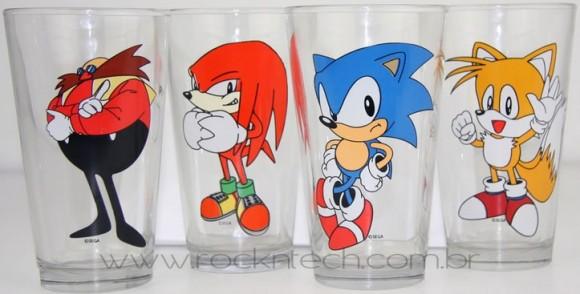 Copos do Sonic e sua Turma!
