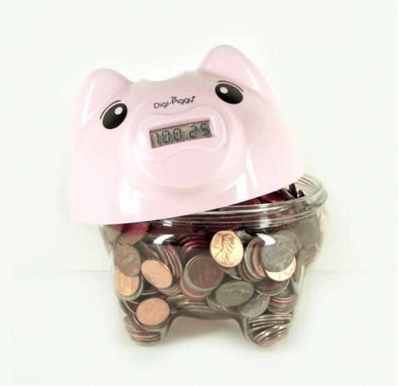 Digi Piggy – Suas economias em um cofrinho em forma de porquinho digital!