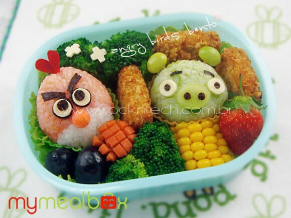 FOTOFUN - Da série impossível não brincar com a comida: Bentō Angry Birds.