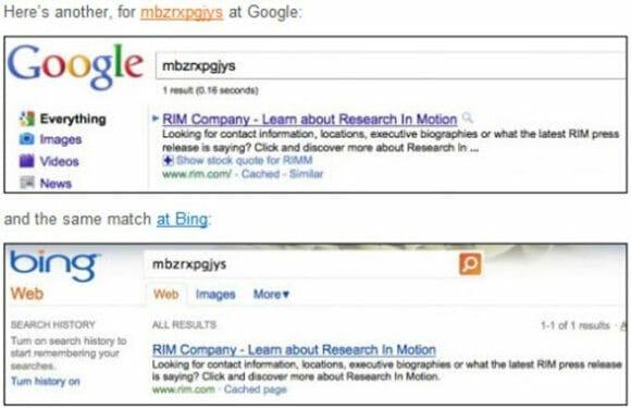 Hiybbprqag – Google acusa Bing de copiar seus resultados de busca.