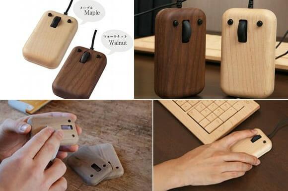 Play Mouses de madeira têm design minimalista.