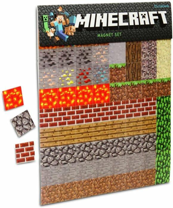 Ímãs de geladeira inspirados no jogo Minecraft