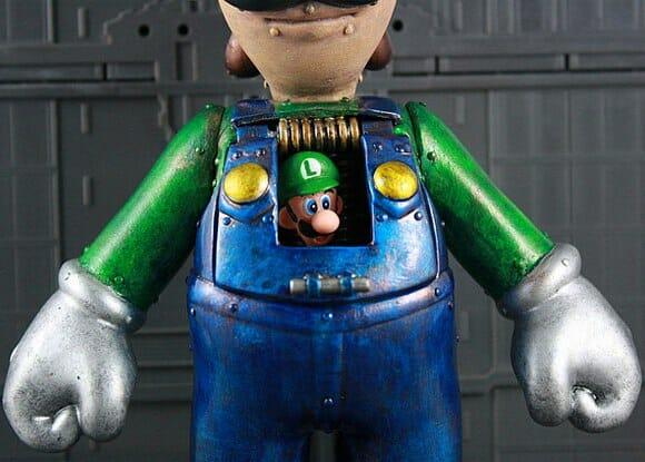 Fã da série Super Mario cria Action Figure em forma de robô do Luigi
