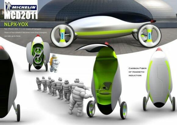 NLPX-YOX - Um carro conceito futurista com design de pinguim.