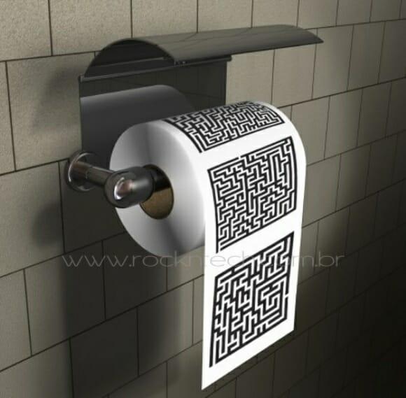 Maze Puzzle – Um papel higiênico para ajudar a se concentrar no banheiro