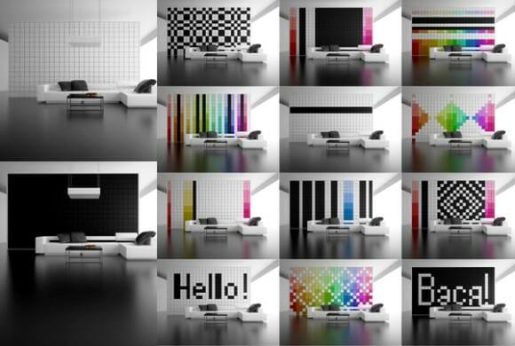 Change It! - Uma parede repleta de pixels customizáveis.