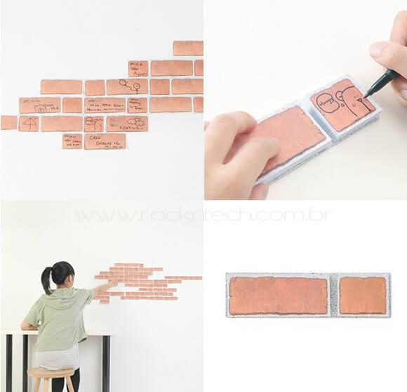 Post-it em forma de tijolo – Um jeito criativo de deixar recados!