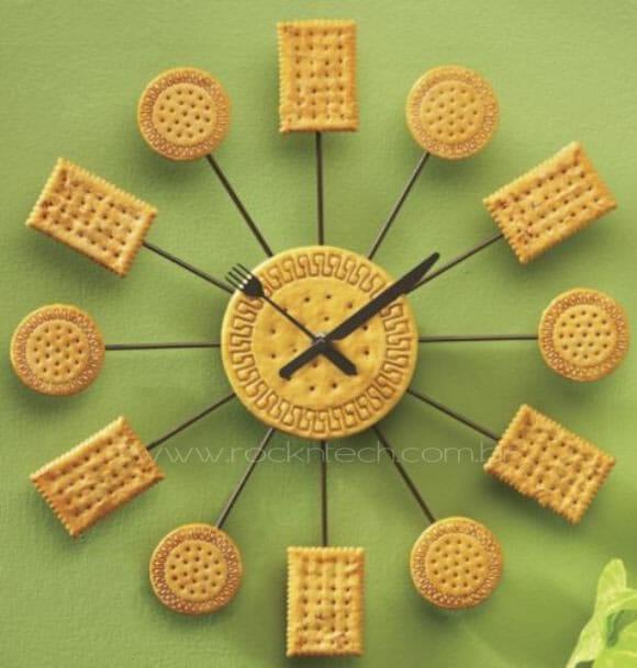 Cookie Clock - O relógio feito de biscoitos!