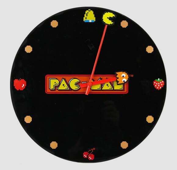 Relógio de parede do Pac-Man.