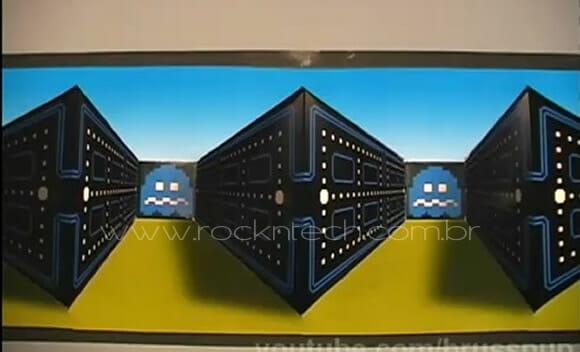VIDEOFUN – O Fantástico Poster 3D do Pac-Man.