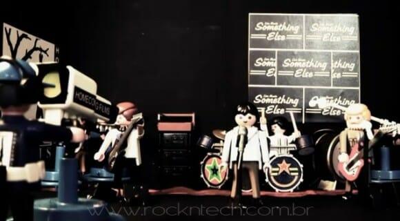 Stop motion com Playmobil recria cenas de banda de Punk Rock dos anos 70