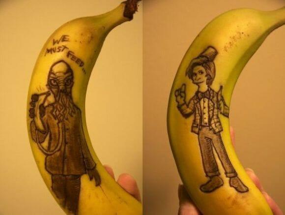 A moda agora é fazer ilustrações em Bananas!