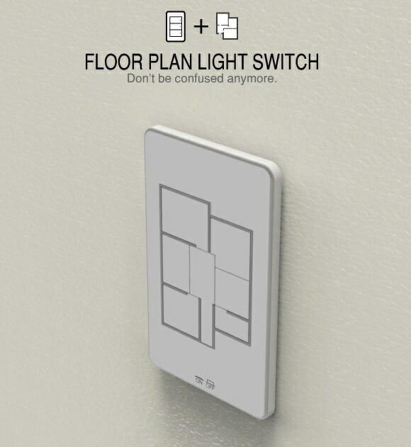 Interruptor com o formato da planta básica da casa facilita a vida dos esquecidos.