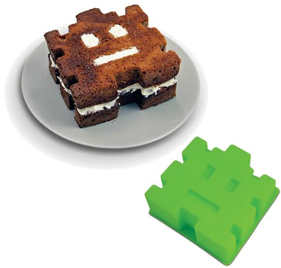 Fôrma dos Space Invaders para bolos e doces.