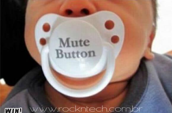 FOTOFUN - Botão mute para bebês.