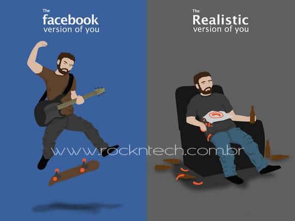 FOTOFUN - Você na versão Facebook x Você na vida real.