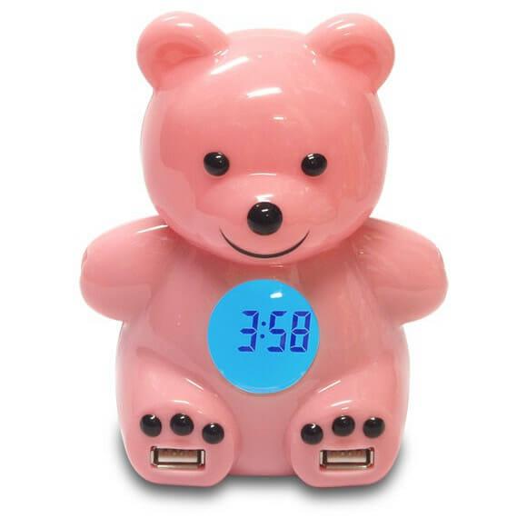 Despertador e Hub em forma de Urso Teddy.