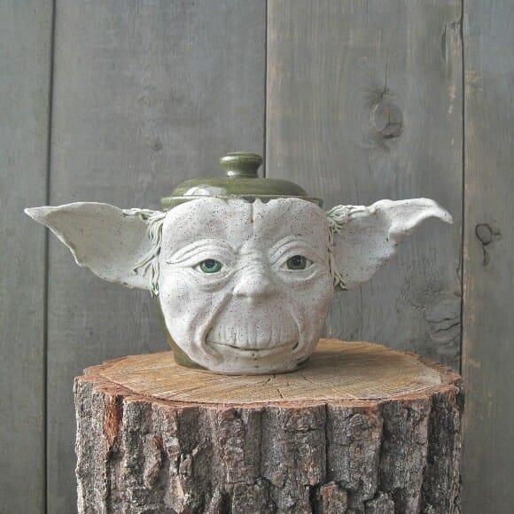 Jarro do Mestre Yoda para fãs de Star Wars.