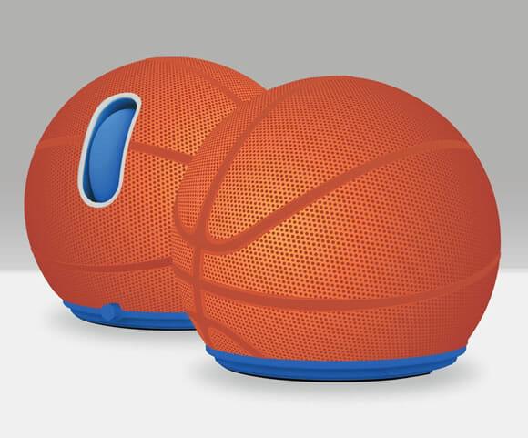 Mouse da Jelfin em forma de bola de basquete. Muito legal!