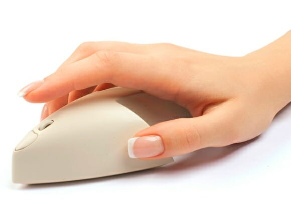 Mus3 - Um mouse em forma de cursor de mouse.
