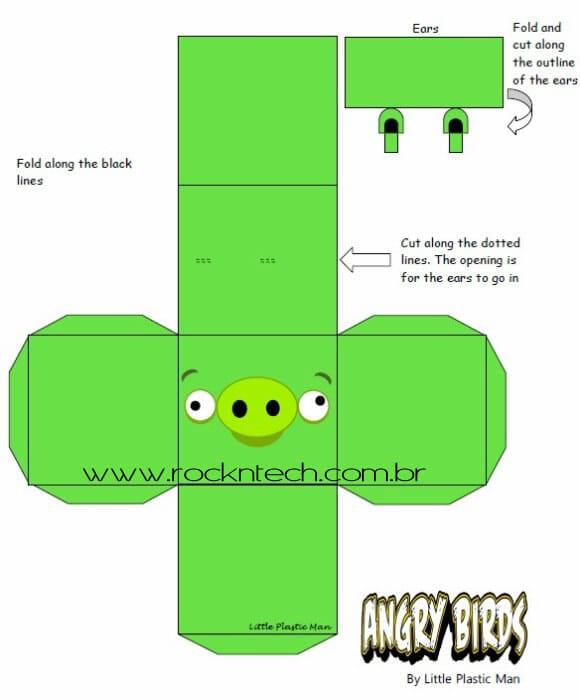 Angry Birds em Papercraft disponível para download.