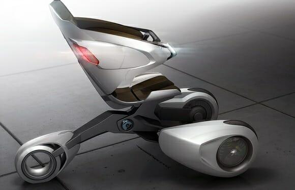 Peugeot XB1 - Uma versão futurista dos transportadores pessoais de hoje em dia.