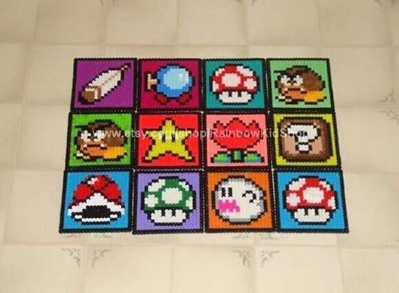 Kit de porta copos do Super Mario Bros.
