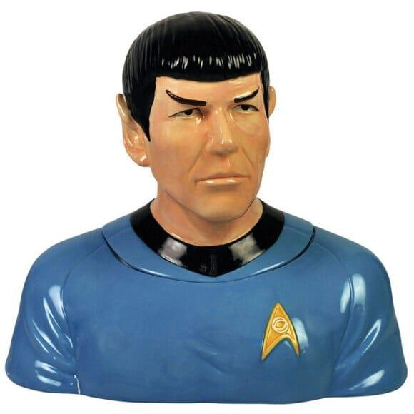 Pote de biscoito do Spock para fãs de Star Trek