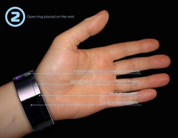 Rollerphone - Um celular conceito futurista em forma de relógio de pulso.