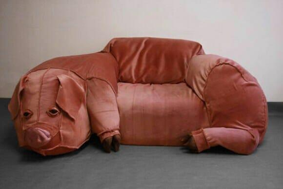 Um porco para ter na sala de estar.