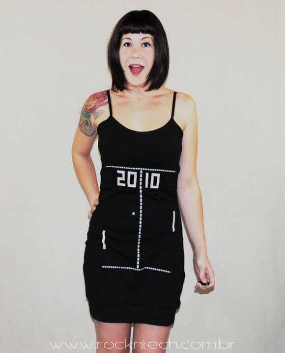 Vestido do Pong para garotas geeks.